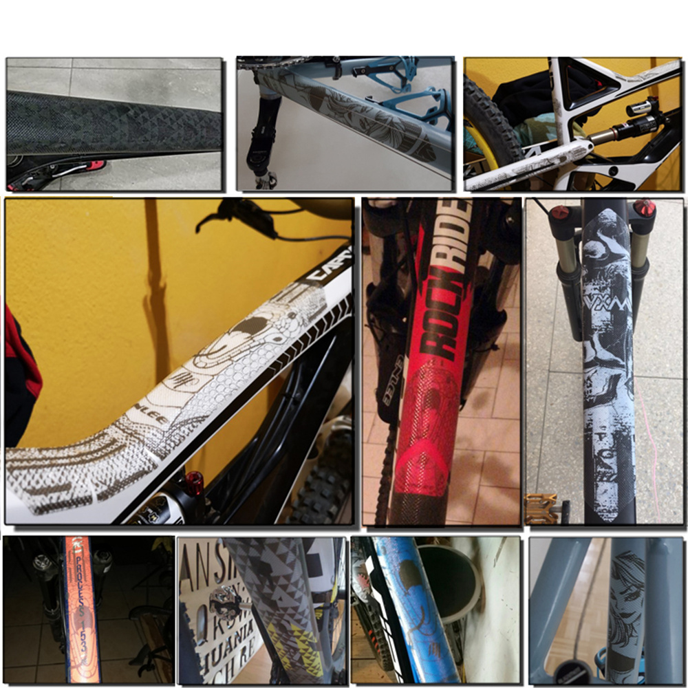 Купить с кэшбэком VXM 3D MTB Bike Scratch-Resistant Protect Frame Protector Removeable Sticker Road Bicycle Paster Guard Cover Bicycle Accessories
