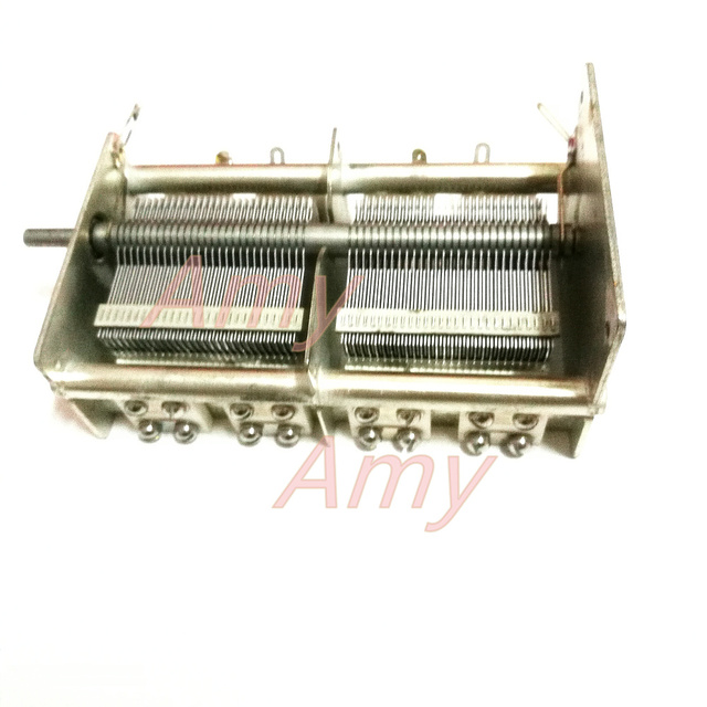 مكثف متغير مزدوج 33PF 1100PF مصنوع من السيراميك عالي السعة