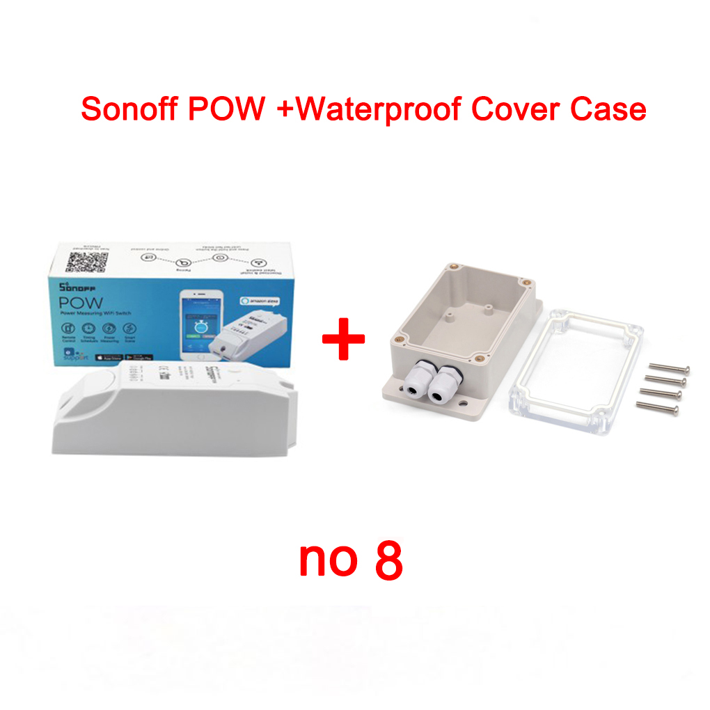 Sonoff IP66 Waterproof Cover Case+Sonoff Basic/RF/Dual/Pow Wireless Switch Remote Control WiFi Switch for Smart Home Automation itead sonoff 4ch channel remote control wifi switch home automation module wireless timer diy switch