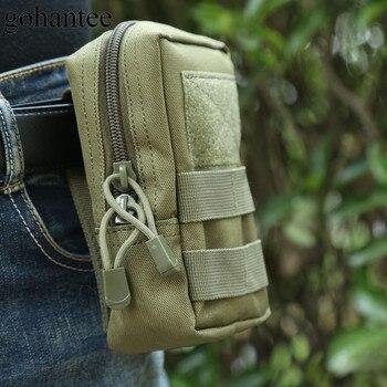 Gohantee ƈ�術的なウエストバッグモール Mouch Ȼ�事マルチ EDC Ã�ッグ 600D Nj�猟旅行ポーチ携帯電話財布ベルトパックパケット