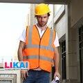Hi vis  safety vest orange printing logo  construction vest multi pockets safety reflective vest print logo free shipping