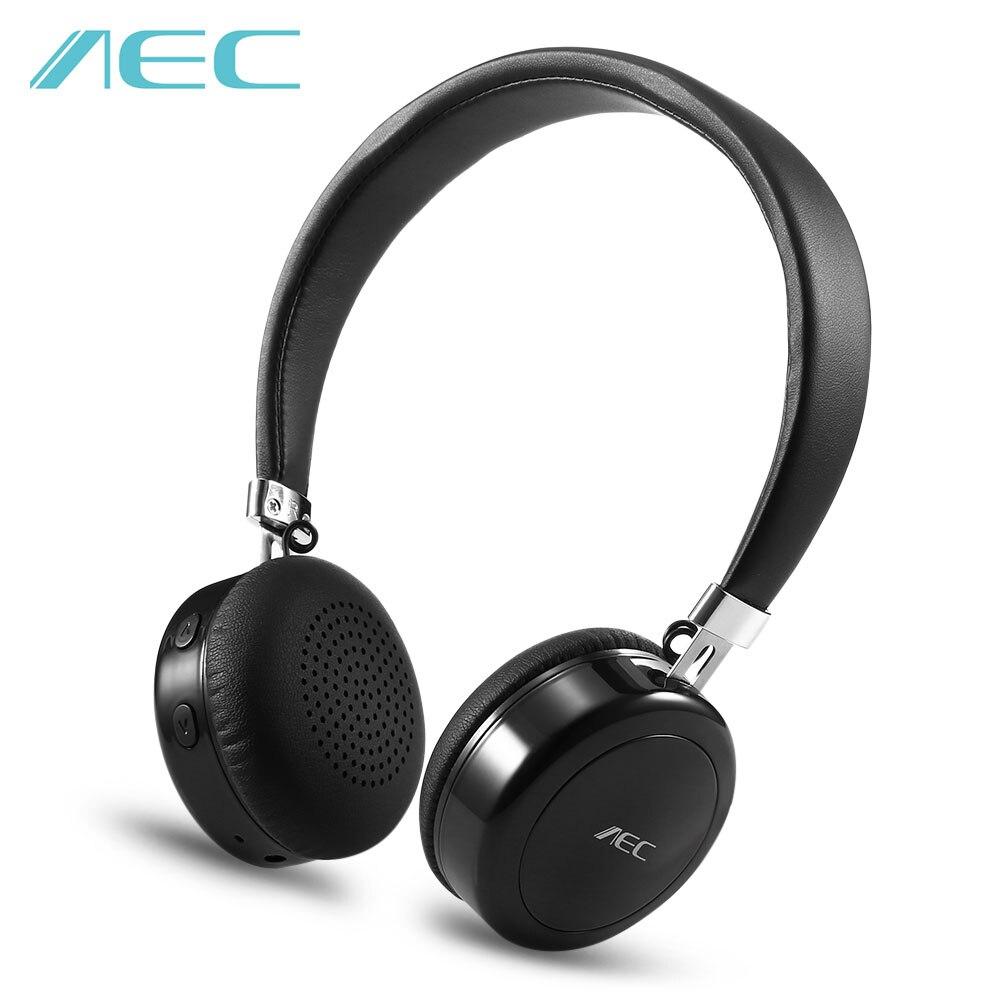 AEC Bluetooth 4.1 Stereo Headphones On-ear HiFi Wireless Headphones Portable Headset Microphone Support 3.5mm Audio Input BQ668 наушники panasonic premium bluetooth wireless on ear headphones rp btd10e k