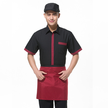 Chef Uniform Waiter Long-sleeved Hotel Uniform Female Western Restaurant Uniform Burger Milk Tea Shop Work Clothes