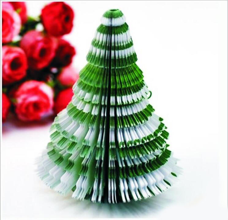 New Christmas tree memo pad adhesive gift sticky notes Post