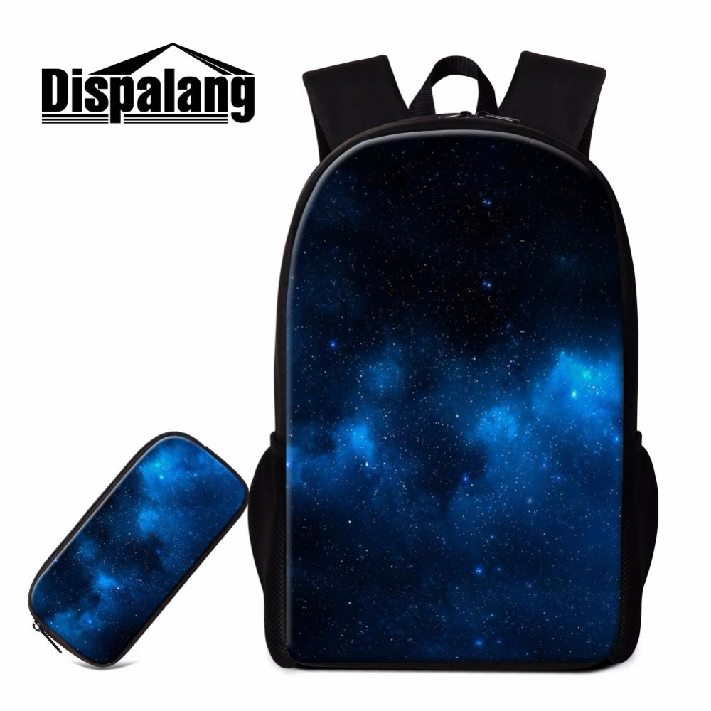 Dispalang hot sale 2PCS/SET suit school stationery children large school bag with pencil case universe space backpack for men hot sale 2017 pencil golf bag men double thickening cotton travel bag for golf clubs with wheels large capacity storage golfbag