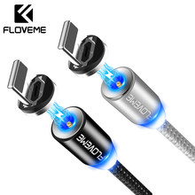 FLOVEME 1M Magnetic USB Cable For iPhone X Micro USB Cable Magnetic Charger For Samsung Xiaomi Mobile Phone Magnet Microusb Cabo(China)