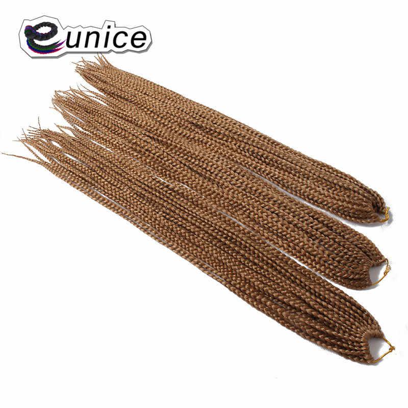 """Eunice Hair 18 """"24"""" дюйма 100 г/шт. синтетический Омбре плетение волос Плетение Парик Косы наращивание волос черный фиолетовый ошибка"""