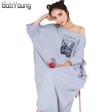 BabYoung Summer Women Nightgowns Long Nightdress Cotton Slash Neck Sexy Lingerie Loose Night Gown Sleep Dress Sleepwear Gecelik
