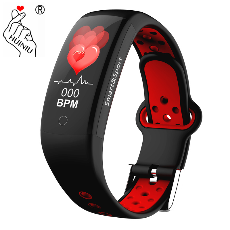 HUINIU Smart Blood Pressure Watch Heart Rate Monitor Wrist band Waterproof Fitness Tracker PK Smart Bracelet Fitbits Mi band 3 smart watch m19 heart rate fitness bracelet sleep monitor smart tracker blood pressure smart band color screen band pk mi band 3