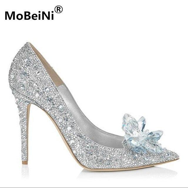32ae059003a Merek Sepatu Hak Tinggi Pompa Crtystal 11 CM Wanita Sepatu Pesta  Rhinestones High Heels Sepatu Pernikahan