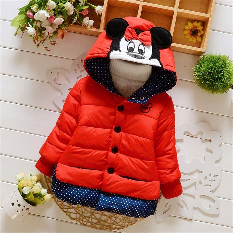 New Fashion Brand Children Girls Cute Coats Toddler Jacket Kids Winter Thick Warm Down Baby Cartoon Outwear Clothes стоимость