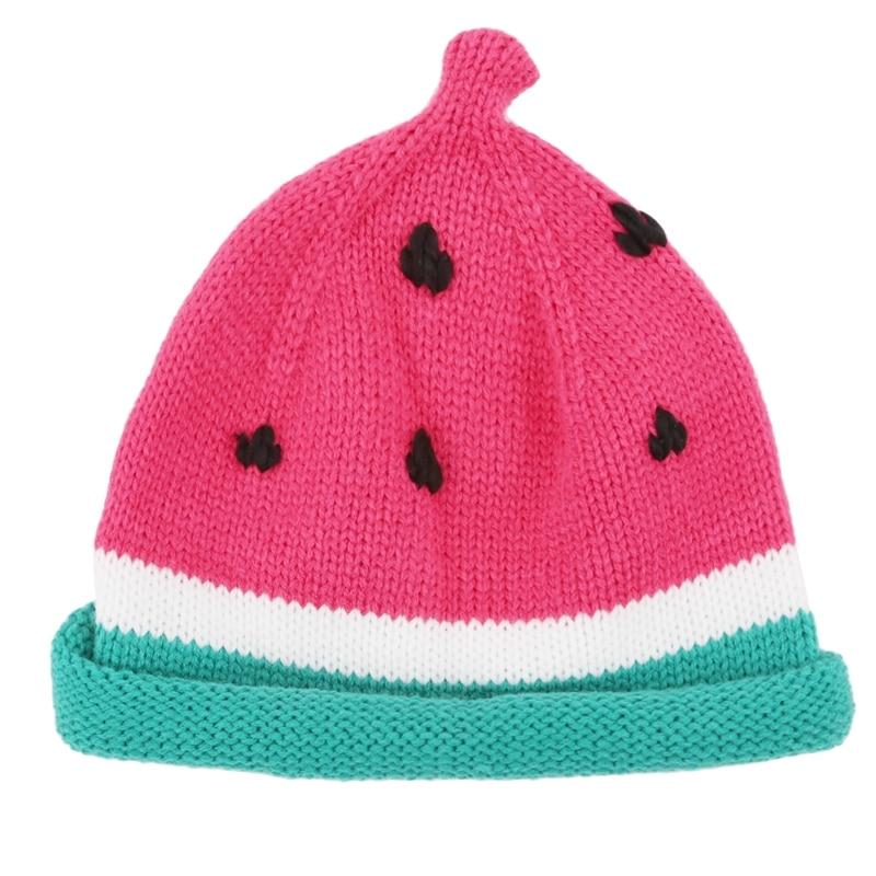 Baby Girls Boys Hat Watermelon Knitted Baby Hat Newborn Photography Props Autumn Newborn Hat