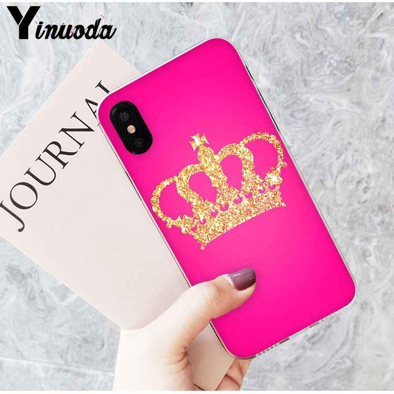 Yinuoda Pink Princess crown Novelty Fundas Phone Case Cover for iPhone X XS MAX  6 6s 7 7plus 8 8Plus 5 5S SE XR