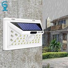 34 LED güneş ışığı hareket sensörü güneş enerjili gece güvenlik duvar lambası su geçirmez bahçe lambası için veranda çim bahçe koridor