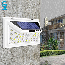 34 LED 태양 빛 모션 센서 파티오 잔디 정원 복도에 대 한 태양 전원 된 밤 보안 벽 램프 방수 정원 빛