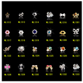 10pcs New 2016 Luxury Diamond Clear Rhinestone Alloy Nail Art Decorations Glitter Charm 3D Nail Jewelry Supplies