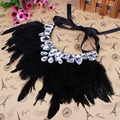 Feather Statement Necklace 2017 Fashion Jewelry Chokers Necklaces & Pendants for Women Kolye Collares