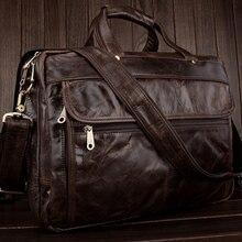 Роскошный портфель из натуральной кожи, мужская деловая сумка, портфель, мужской портфель, кожаная офисная сумка, сумка для ноутбука, мужская сумка-мессенджер