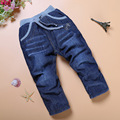 SK042 Free Shipping high quality 1pcs winter thick kids pants style warm cashmere baby boys jeans children trousers retail