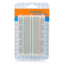 Мини макетная плата 400 точек галстука Универсальный прототип печатной платы для Arduino электронная пайка хлеба доска прототипирование пластины