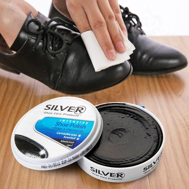 Multifuncional de cuero negro de mantenimiento de limpieza zapatos cera  capa exterior de la piel crema 1b9cb97e6164