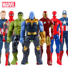 Disney Marvel Toys 30CM Avengers Infinity War Super Hero Captain America Iron Man Thanos Hulk  PVC Action Figure Dolls Toy Gift spot sell q version of captain america avengers hulk q edition boxed high quality pvc dolls child toys 2pcs set free shipping