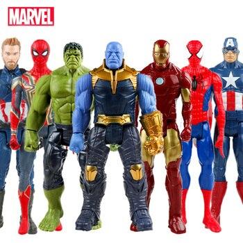 Disney Marvel Toys 30CM Avengers Infinity War Super Hero Captain America Iron Man Thanos Hulk  PVC Action Figure Dolls Toy Gift the avengers super hero marvel hot toys iron man tony stark 1 20 scale bust deluxe set of 6 with battle damaged mk6 3 pvc