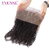 YVONNE Malaysian Curly 360 Lace Frontal Pre Plucked with Baby Hair 100% Virgin Human Hair Lace Frontal