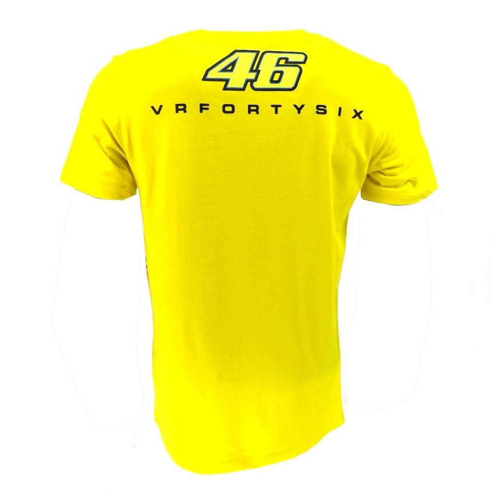 2018 Valentino Rossi VR46 Yellow 46 The Doctor T-Shirt Racing Sport Motor Moto GP T shirt