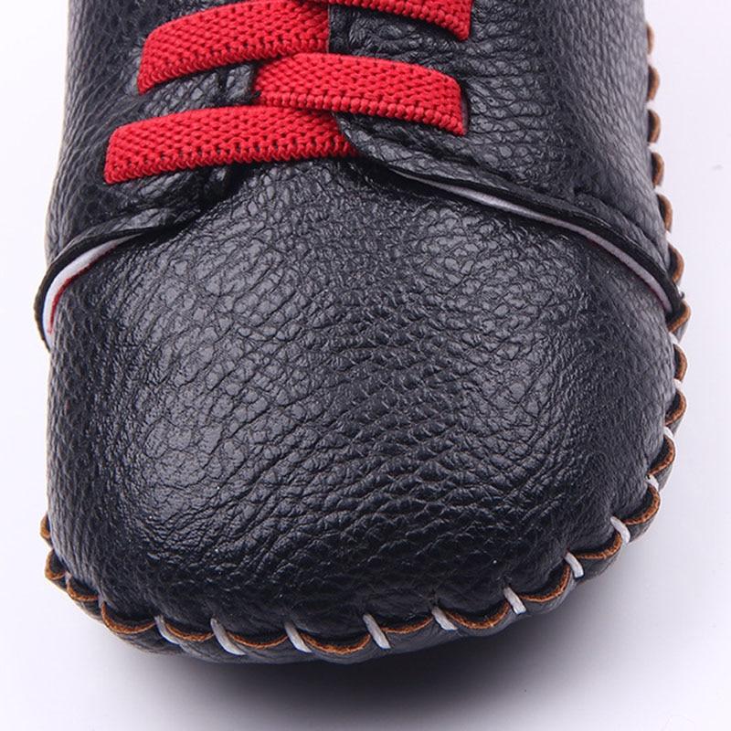 Baby boy girl dobrze PU ręcznie szycie miękkie dno buty dla dzieci - Buty dziecięce - Zdjęcie 4