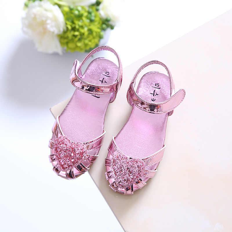 Новинка 2017 Лето высокое качество нескользящая детская обувь для девочек модные сандалии для малышей детские сандалии для принцессы Повседневная обувь на плоской подошве