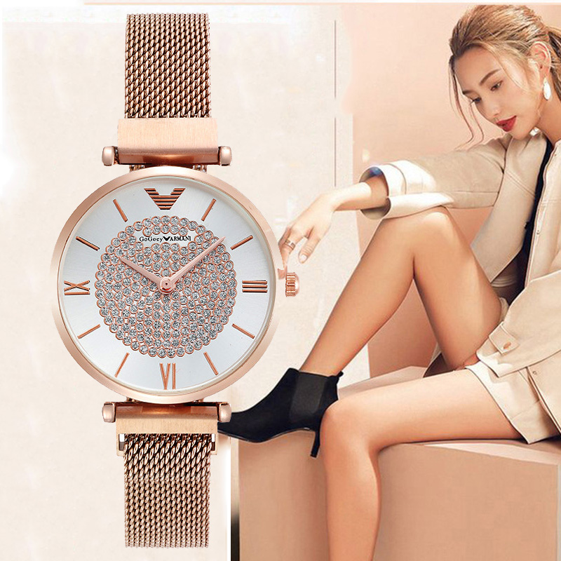 Luxury Brand Women Watches 2019 Starry Sky Magnetic Female Wristwatch Waterproof Rhinestone Clock Relogio Feminino Montre Femme