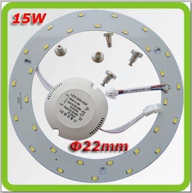 Envío de la gota 85-265V aluminio redondo1450lm15W led magnético 2d - Iluminación interior