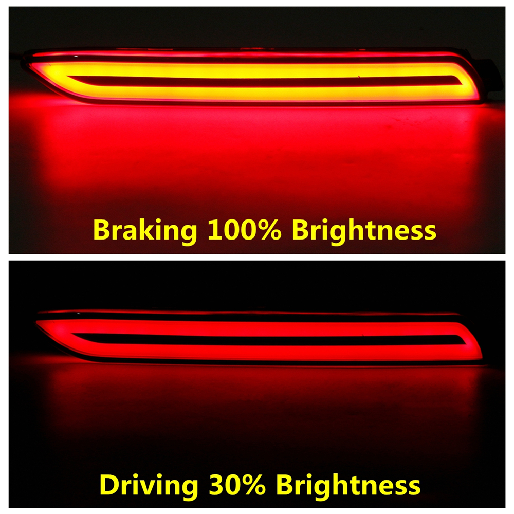 LED Car Rear Bumper Reflector Tail Brake Light Bar For Toyota RAV4 2019 2020 Daylight+brake+turn Siganls