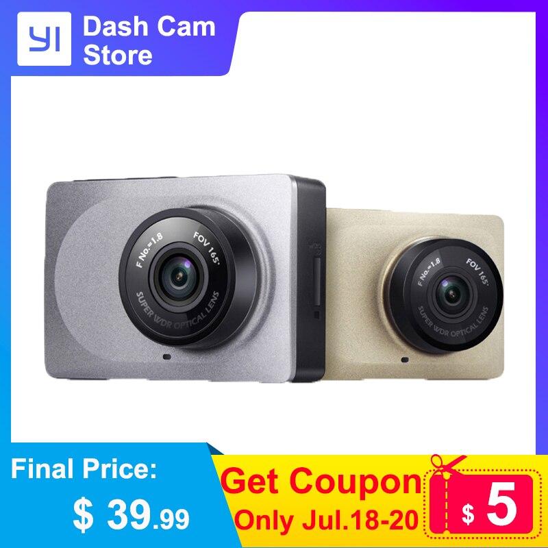 YI Smart Dash cámara grabadora de vídeo WiFi Full HD coche DVR Cam visión nocturna 1080P 2,7 165 grados cámara de 60fps para grabación de coche