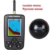 러시아어 메뉴!!! Ffw718 업그레이드 된 무선 휴대용 어군 탐지기 40 m/120ft 음파 탐지기 사운 더 알람 ocean river lake|물고기 탐지기|   -