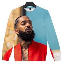 3D O neck Nipsey Hussle Sweatshirt Hot Rapper harajuku Warm Men Women Hip Hop Boy/Girl Streetweat