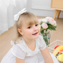 1pcs White Lace Floral Bow Headbands Hairpins for Girls, Elastic Nylon Headband Hair Clips, Cute Headwear Accessories