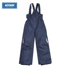 Moomin overalls winter for boys 2015 fashion Solid winter cotton pants boys Loose dark blue Zipper Fly pants for winter