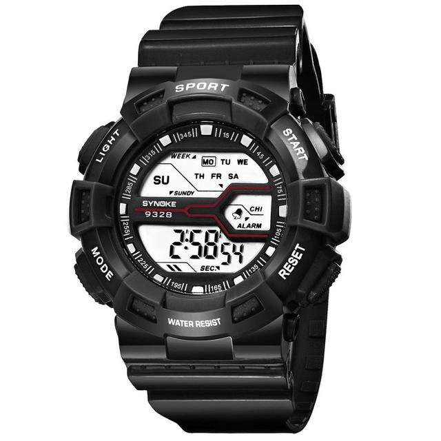 SYNOKE Children Sports Watches Fashion LED Quartz Digital Watch Boys Girls Kids Students 30M Waterproof Wristwatches
