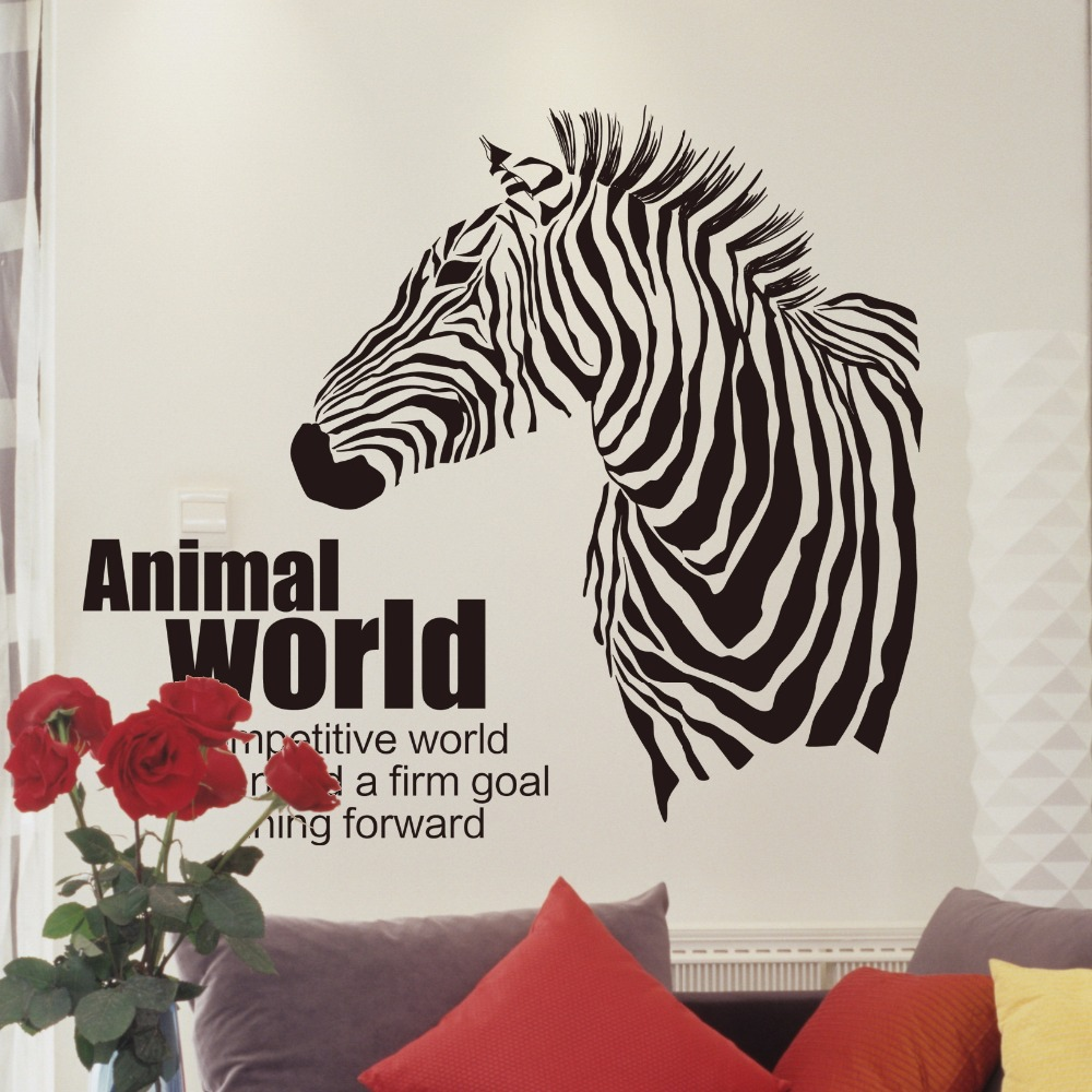 2017 New Creative Fashion Animal World Sketch Zebra Home Decoration Wall  Stickers Living Room Sofa Wall Decals Bedroom Wallpaper In Wall Stickers  From Home ...