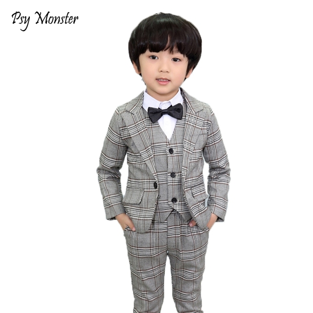 Brand Boys Formal Suits Wedding Birthday Party Jackets Vest Pants ...