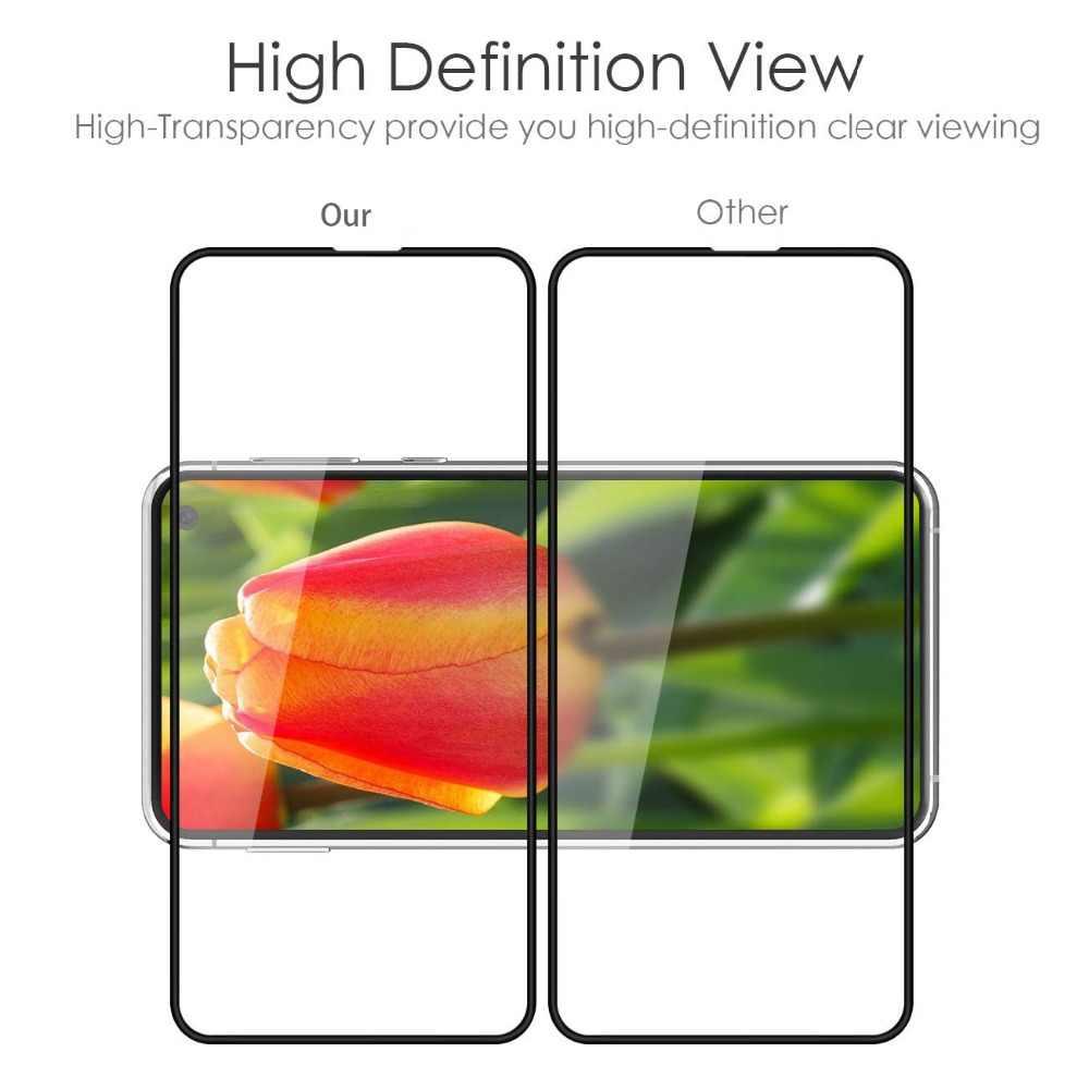 3D HD كامل الشاشة التغطية فقاعة شحن لسامسونج غالاكسي S10E الزجاج المقسى لسامسونج S10 لايت 2019 واقي للشاشة فيلم