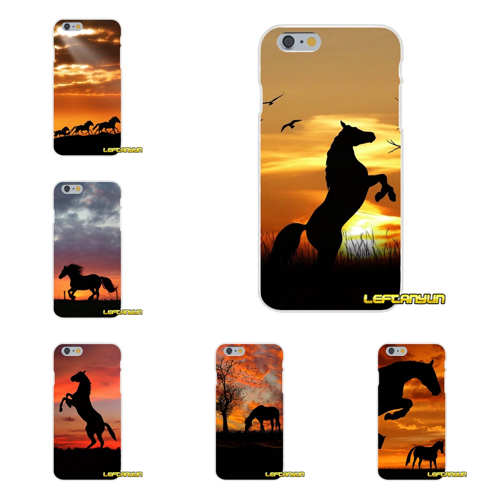 Sunset Tree Horse Soft Silicone phone Case For Motorola Moto G LG Spirit G2 G3 Mini G4 G5 K4 K7 K10 V10 V20