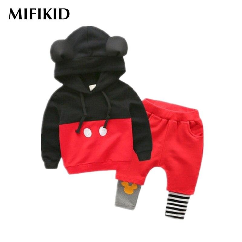 ФОТО spring fashion boys girls kids clothes set cotton sport suit children clothing outfits tracksuit top sweatshirt + pants