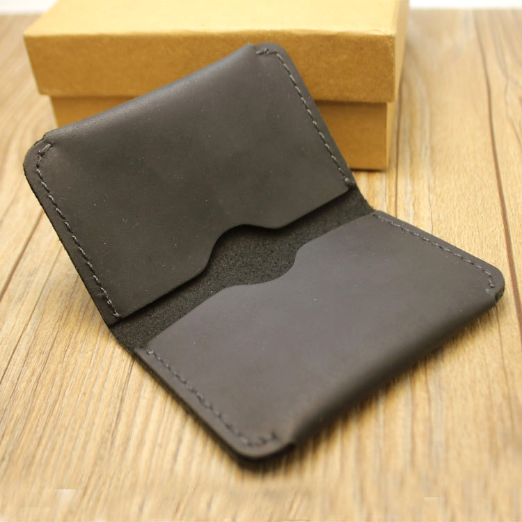 No brand handmade cow leather men card holder genuine leather no brand handmade cow leather men card holder genuine leather business card box retro case to protect credit cards in card id holders from luggage bags reheart Image collections