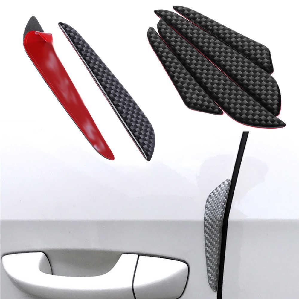 Bumper Protector Strip-4Pcs Door Edge Guard Carbon Fiber Bumper Protector Strips Trim Cover for Universal Car