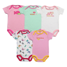 5pcs/lot Baby Bodysuits 100% Cotton