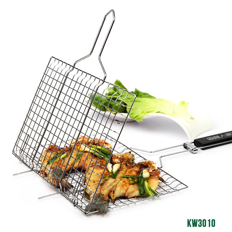 More 5 People Stainless Steel Barbecue Nest BBQ Grill Two Size Barbecue Tong, BBQ Tools-001