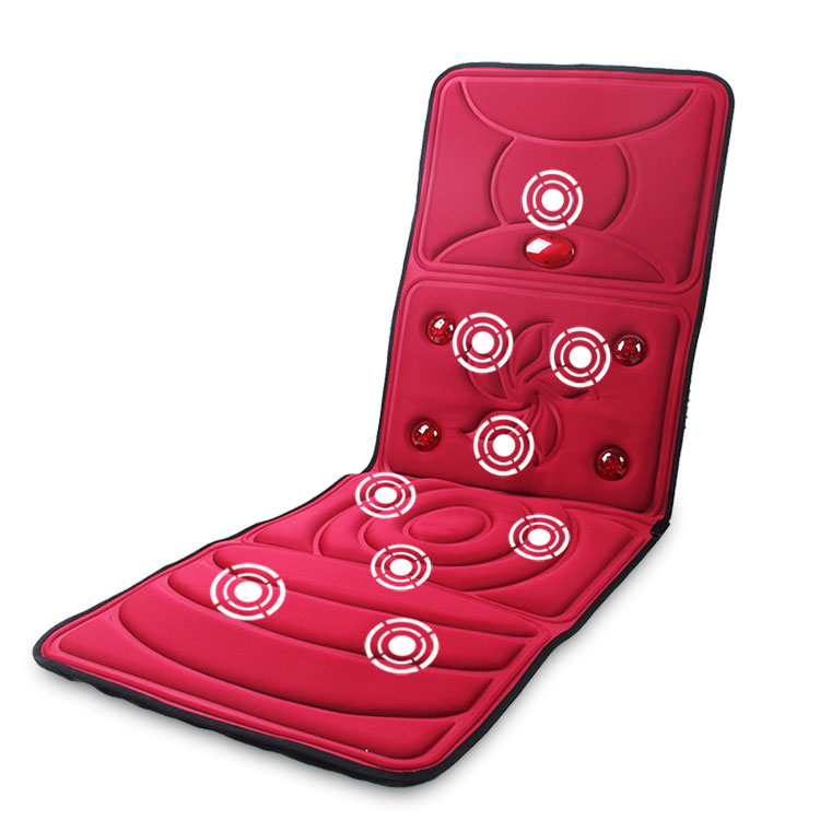 Multifunctional electric massage mattress heated the elderly equipment full-body massage cushion household